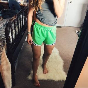 Nike Neon Green & Navy Classic Running Shorts